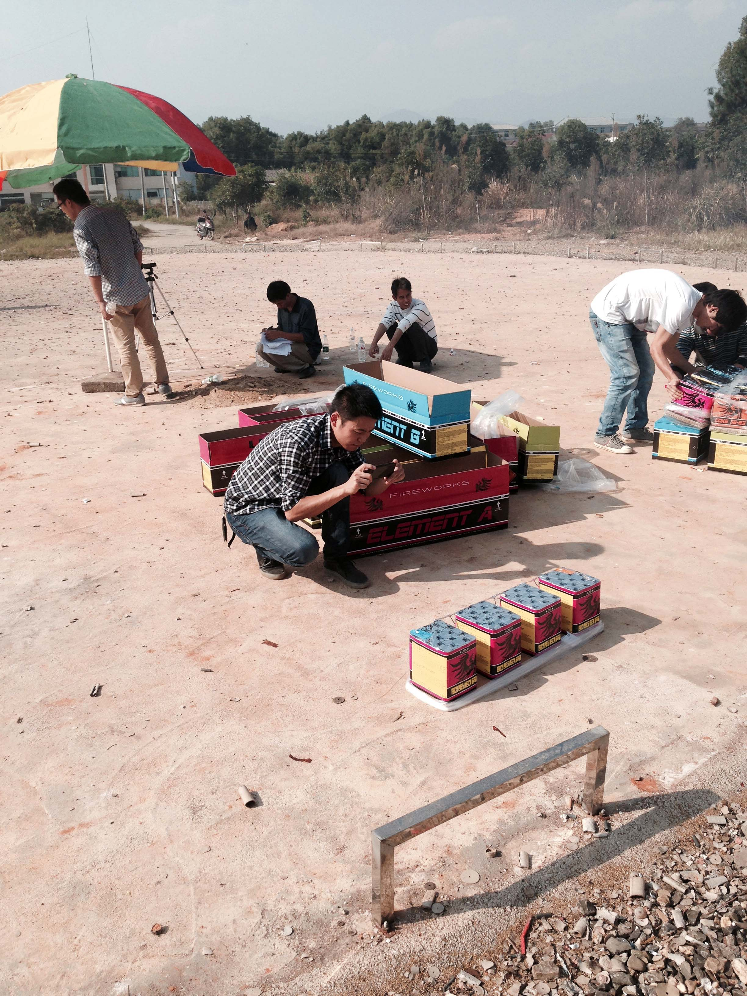 Batch test consumenten vuurwerk in China