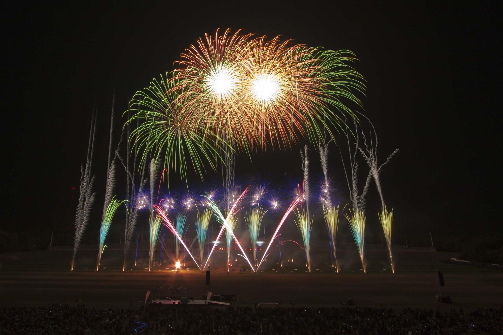 Music synchronized fireworks